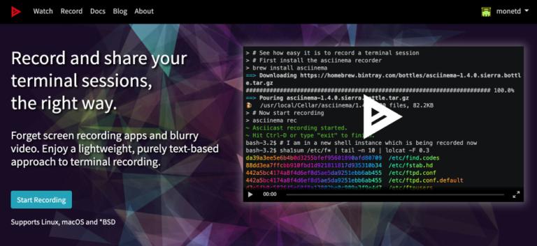 A screenshot of asciimea.org